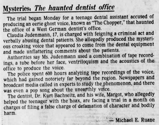 haunted dentist